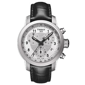 ティソ 腕時計 レディース 時計 Tissot T055.217.16.032.02 Silver Dial Leather Strap Ladies Watch