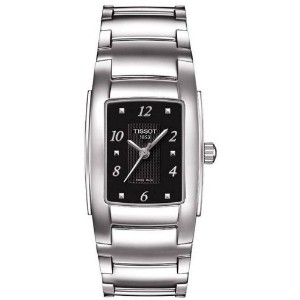 ティソ 腕時計 レディース 時計 Tissot T-Classic T10 Black Dial Ladies Watch T0733101105700