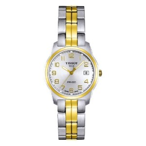 ティソ 腕時計 レディース 時計 Tissot Women's T0492102203200 PR 100 Two-Tone Silver Dial Watch