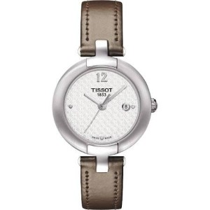 ティソ 腕時計 レディース 時計 Tissot T-Trend Pinky White Dial Red Leather Ladies Watch T0842101601701