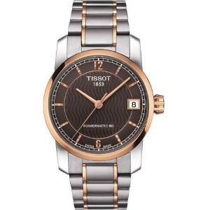 ティソ 腕時計 レディース 時計 Tissot T-Classic Automatic Brown Dial Two-tone Ladies Watch T0872075529700