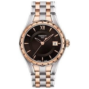 ティソ 腕時計 レディース 時計 Tissot Brown Dial Two-tone Ladies Watch T0722102229800