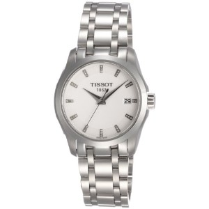 ティソ 腕時計 レディース 時計 Tissot Couturier Silver Dial Stainless Steel Ladies Watch T0352101101600