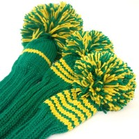 Jan Craig Green Yellow Stripe Headcover Sets【ゴルフ アクセサリー>ヘッドカバー】