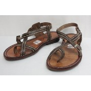 "GOSH ゴッシュ LEATHER SANDAL ""Tzayana"" (CHOCOLATE) 9inch"