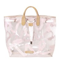 [レペット]repetto Shopping bag Arabesque Plexi with integrated net and ribbon Pink Repetto ビニール トートバッグ M0135TUL-427 [並行...