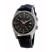 ハミルトン ジャズマスター メンズ 腕時計 Hamilton Men's H32615835 Jazzmaster GMT Traveler Black Dial Watch