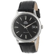 オリエント 時計 メンズ 腕時計 Orient Men's FER24004B0 Bambino Analog Japanese-Automatic Black Watch