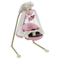 Fisher-Price フィッシャープライス ゆりかご Papasan Cradle Swing, Mocha Butterfly