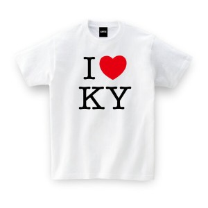 I LOVE KY TEE アイラブ郡山 おもしろtシャツ 誕生日プレゼント 女性 男性 女友達 おもしろ Tシャツ プレゼント ギフト GIFTEE