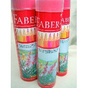 《FABER CASTELL》色鉛筆 丸缶24色 74416(お名前入れ不可商品)