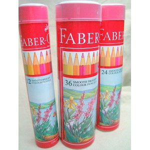 《FABER CASTELL》 色鉛筆 丸缶 36色 (お名前入れ不可商品)744174