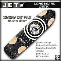 JET SKATEBOARDS デッキ THRILLER DH 38.3 サイズ 38.3×10.0 【ジェット ロングスケートボード ロンスケ】【日本正規品】715005