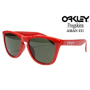 OAKLEY FROGSKINS SUNGLASSES ASIAN FIT OO 9245-20 POLISHED RED/DARK GREYオークリー フロッグスキン アジアンフィット サングラス...