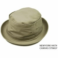 made in usa NEW YORK HAT CO ハット ポークパイ ニューヨークハット CANVAS STINGY ポークパイハット 春 夏 春夏 帽子 大きいサイズ メンズ レディース...