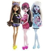 Monster High モンスターハイ Dead Tired Abbey, Clawdeen, & Draculaura Set of 3 人形 ドール
