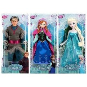 "Disney STORE Classic Doll Collection ""Frozen"" ""Kristoff / Anna / Elsa"" ディズニーストア ク"