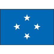 135cm 中サイズ・アクリル・国旗 ミクロネシア連邦(Federated States of Micronesia )・National flag【応援グッズ】
