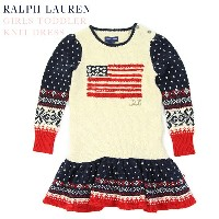 (TODDLER) Ralph Lauren Girls(2-6X) FLAG KNIT ONE Piece ラルフローレン ガールズ ワンピース