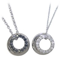 ( Brand Jewelry with me. ) シルバーペアペンダントネックレス【楽ギフ_包装】