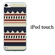 iPod touch 5 6 ケース iPodtouch ケース アイポッドタッチ6 第6世代 ニット風 デザイン TYPE1 / for iPod touch 5 6 対応 ケー...
