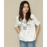 【Little sunny bite(リトルサニーバイト)】Little sunny bite × Hello Kitty Hello Kitty stitch tops ステッチトップス
