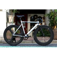 ピストバイク 完成車 STATEBICYCLE ステイトバイシクル 6061 BLACK LABEL SILVER DINER 3SPOKE 88 CARBON WHEEL CUSTOM