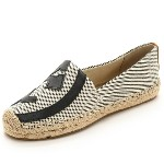 Tory Burch トリーバーチ Lonnie Flat Espadrilles ロニー フラット エスパドリーユ Natural/Tory Navy/Royal Tan【フラット レデ...