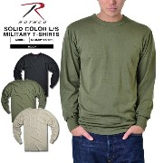 ROTHCO ロスコ SOLID COLOR ミリタリー長袖Tシャツ《WIP》 ミリタリー 男性 ロンT 春 ギフト プレゼント