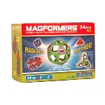 マグフォーマー 34ピースセット 赤/青 Magformers Magnetic Magic Building Set, Red/Blue, 34-Piec