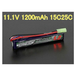 S電動ガンTurnigy nano-tech 11.1V 1200mAh 15C25Cリポ です。