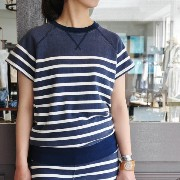 Rita Jeans Tokyo(リタジーンズトーキョー) / Print Border Short Sleeve【Z】