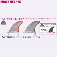 "PROTECK FIN POWER FLEX 4.5"" TRI FINS SET FOR SOFT BOARD パワーフレックス 4.5"" ソフトボードトライフィンセットプロテック フィン フィン..."