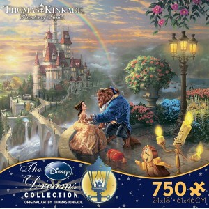 【美しいアートシリーズ】Disney Dreams Collection - Beauty and The Beast Falling in Lovey by Thomas Kinkade...