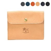 【5%OFFクーポン対象】イルビゾンテ IL BISONTE 財布 二つ折り財布 COWHIDE WALLET WITH FLAP AND SNAP FASTENING C0421 P [全6色]