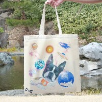 """WOWCH NY""""PUPPY*PLANET TOTE"""" プリントトートバッグ [ウォウチ プリントトート エコバッグ ]"""