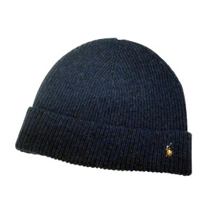 POLO RALPH LAUREN KNIT CAP (Signature Cuffed Merino Hat/6F0102/416: Navy)ポロ ラルフローレン/ニットキャップ/紺
