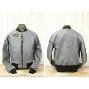 vanson バンソン LOGO TEAM JACKET SPECIAL ORDER COLOR レザージャケット VANSON TJV GRAY
