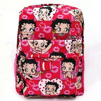 【Betty バックパック ピンク】Betty Boop ベティ ブープ キャラクター グッズ 雑貨 バッグ リュック USA 直輸入