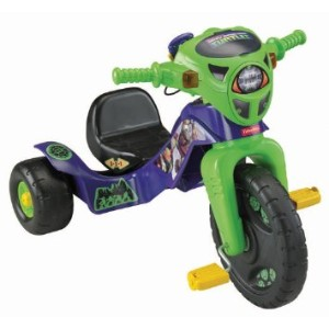 Fisher-Price Nickelodeon Teenage Mutant Ninja Turtles Lights and Sounds Trike Ride On タートルズ