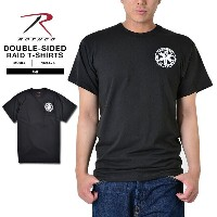 ROTHCO ロスコ 6676 DOUBLE-SIDED EMT(EMERGENCY MEDICAL TECHNICIAN)Tシャツ ミリタリー 半袖 Tシャツ 黒 ブラック プリント...