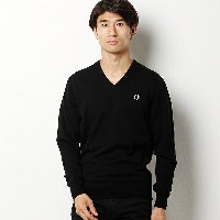 【16AW】「雑誌CLUEL homme 11月号掲載」CLASSIC V NECK SWEATER/フレッドペリー(メンズ)(FRED PERRY)