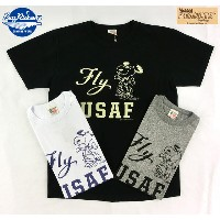 "No.BR76843 BUZZ RICKSONS × PEANUTSS/S T-SHIRT""Fly USAF"""