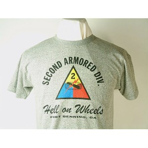 """Buzz Rickson's (バズリクソンズ)S/S T-SHIRTS""""SECOND ARMORED DIV.""""HELL ON WHEELS"""