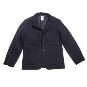【期間限定30%OFF!】POST OVERALLS(ポストオーバーオールズ)/#2123 2015 E-Z RIDER WOOL FLANNEL JACKET/navy