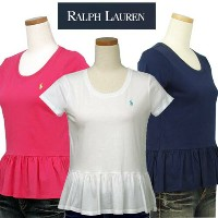 POLO by Ralph Lauren Girl'sラルフローレンフリル付、半袖Tシャツ【2015-Spring/NewColor】【ラルフローレン ガールズ】 ギフト プレゼント