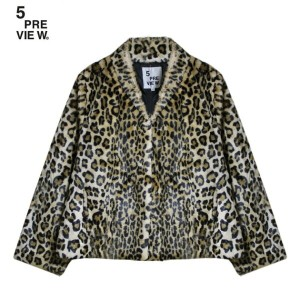 5PREVIEW (ファイブプレビュー) FAYE FAUX FUR COAT (LEOPARD) [ファーコート/豹柄/WOMEN] [レオパード]