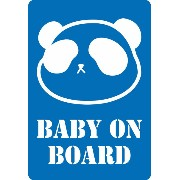 Baby on board(Baby in car)baby パンダ 内貼りシールタイプ