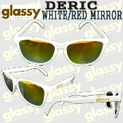 GLASSY SUNHATERS/グラッシーサンヘイターズ サングラス DERIC WHITE/RED MIRROR_02P01Oct16