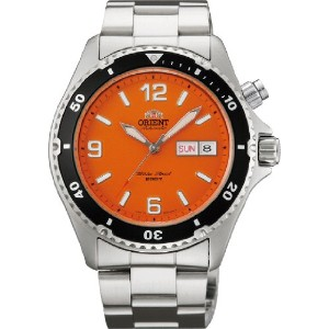 オリエント 時計 メンズ 腕時計 Orient #FEM65001M Men's Orange Mako Stainless Steel 200M Diver Watch